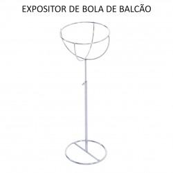 EXPOSITOR DE BOLA PARA BALCAO CROMADO